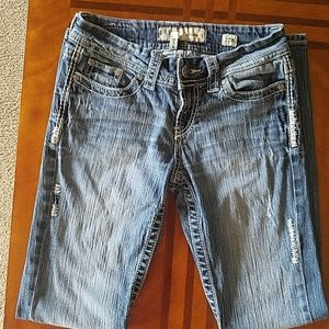 BKE Culture Distressed Bootcut Jeans